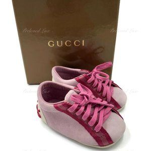 Auth Gucci Baby Pink Logo Shoes Size EU 16